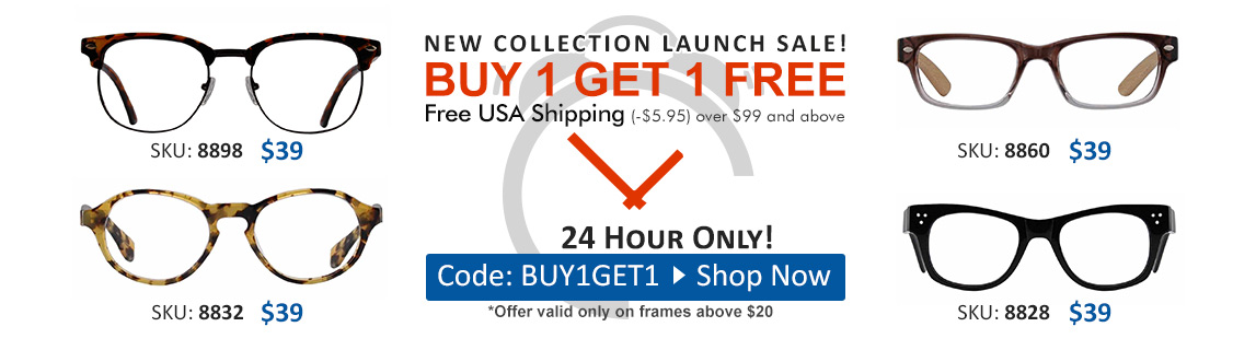 Buy 1 Get 1 Free - 24 Hours Only!