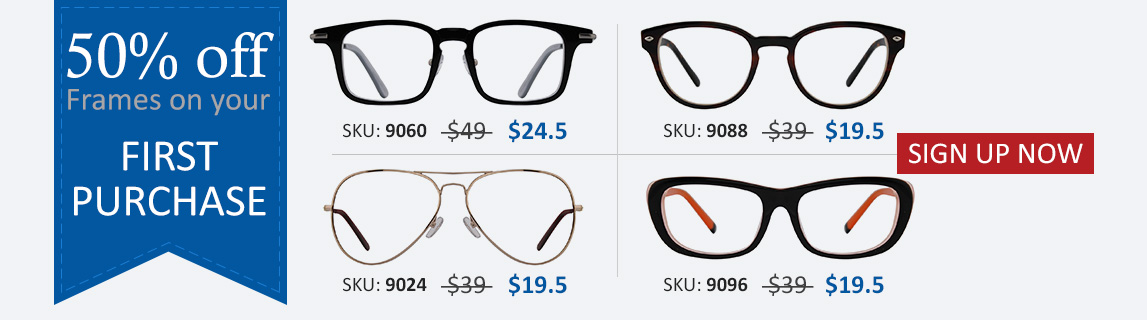 50% Off Cheap Prescription Glasses on SignUp!