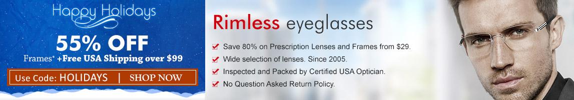 Rimless Eyeglasses at GlobalEyeglasses.com